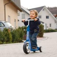 Детский самокат: первый опыт вождения
