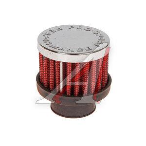 Фильтр вентиляции картерных газов d=25 PRO SPORT красный хром RS-00117