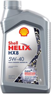 Масло моторное HELIX HX-8 синт.1л SHELL SHELL SAE5W40, 11965