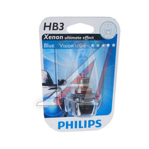 Лампа HB3/9005 12V 65W Blue Vision блистер PHILIPS 9005BVB1, P-9005BVбл-OLD,