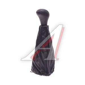 Ручка на рычаг КПП для иномарок черная кожа (с чехлом) RKP-02