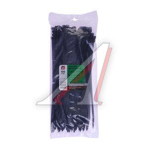 Хомут-стяжка 300х8.0 пластик черный (100шт.) FORTISFLEX 1008300-1, 50283