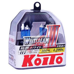 Лампа H7 12V 55W +100% Whitebeam бокс (2шт.) KOITO P0755W, АКГ 12-55 (Н7)