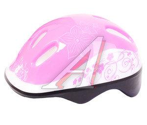 Шлем для катания на велосипеде,скейтборде и роликах (50-54см) LARSEN Flower H1Flower M, 220918