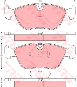 Колодки тормозные VOLVO 850, S70, V70 (91-00) передние (4шт.) TRW GDB1159, 9485593/2715878