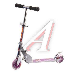 Самокат 2-х колесный (колесо 120мм) детский розовый LARSEN BZ1805A, 303535