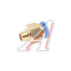 Соединитель трубки ПВХ,полиамид d=10мм (наружная резьба) М10х1 прямой PC M10x1 d=10, АТ-0702