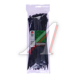 Хомут-стяжка 250х5.0 пластик черный (100шт.) FORTISFLEX 1005250-1, 49416