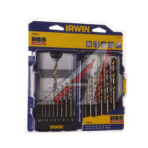 Сверло по металлу с кобальтом 1.5-10.0мм набор 15шт. HSS Cobalt IRWIN 10503990