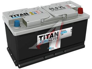 Аккумулятор ТИТАН Euro Silver 95А/ч обратная полярность 6СТ95, 83665