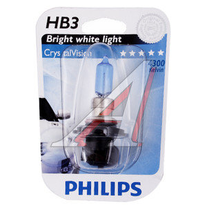 Лампа HB3/9005 12V 65W Cristal Vision блистер PHILIPS 9005CVB1, P-9005CVбл