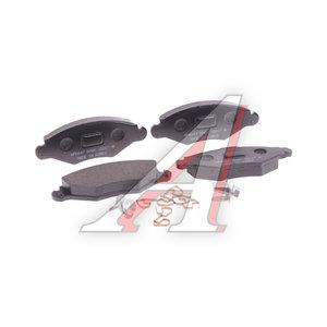Колодки тормозные PEUGEOT 206 (97-) передние (без АБС) (4шт.) HSB HP5047, GDB1361, 4254.94