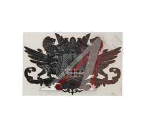 "Наклейка металлическая ""VIP"" 35х65мм MASHINOCOM PKTA 051,"