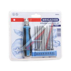 Отвертка с набором бит 8 предметов BRIGADIER 39041