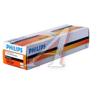 Лампа 12VхW3W (W2.1х9.5d) PHILIPS 12256CP, P-12256