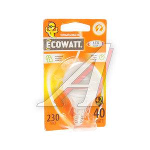 Лампа светодиодная E14 P45 4.7W(40W) 2700К 230V теплый шар ECOWATT 4606400613336,