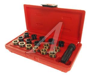 Набор инструментов для восстановления резьбы свечей зажиг. (втулки M12х1.25,L=12.7мм,19мм) 16шт. JTC JTC-4314