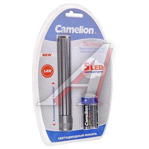 Фонарь 5 светодиодов (алюминий) 13,8см 2хR6 в блистере CAMELION C-5102-5