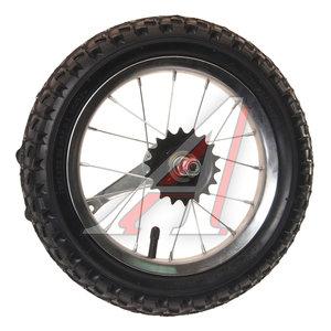 """Колесо велосипедное 12"""" заднее обод сталь хром в сборе 630115"""