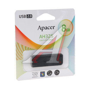 Карта памяти USB 8GB APACER AH325 BLACK APACER AH325 BLACK