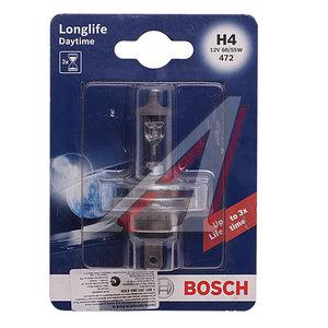 Лампа H4 12V 60/55W P43t-38 +10% Day Time блистер BOSCH 1987301054, АКГ12-60+55(Н4)