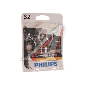 Лампа 12V S2 35/35W +30% BA20d блистер (1шт.) Vision Moto PHILIPS 12728BW, P-12728BWбл