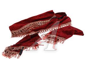 Ламбрекен IVECO на лобовое стекло с уголками красный ЛАМБРЕКЕН IVECO красный