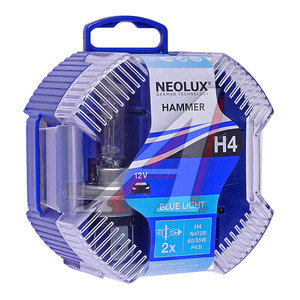 Лампа 12V H4 60/55W P43t бокс 2шт. Blue Light NEOLUX N472B-2, NL-472B2