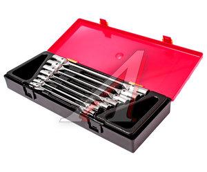 Набор ключей торцевых 6-19мм 12-ти гранных шарнирных 7 предметов JTC JTC-K6072,