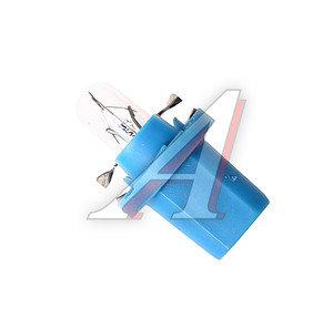 Лампа 12V BAX 1.2W с голубым патроном PHILIPS 12603CP, P-12603