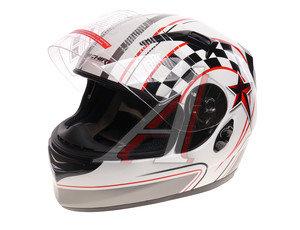 Шлем мото (интеграл) MICHIRU (с солнцезащитным стеклом) белый MI 162 L, 4627072925213,