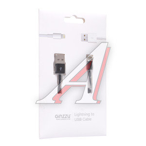 Кабель iPhone (5-) 1м черный GINZZU GINZZU GC-501B, GC-501B