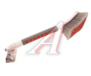 Щетка для мытья автомобиля (под шланг) с клапаном, каучуковой ручкой 52см SAPFIRE 109230