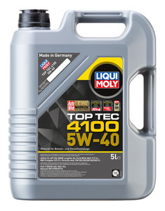 Масло моторное TOP TEC 4100 синт.5л LIQUI MOLY LM SAE5W40 7501/3701,