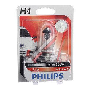 Лампа 12V H4 100/90W P43t-38 блистер (1шт.) Rally PHILIPS 12569RAB1, P-12569бл