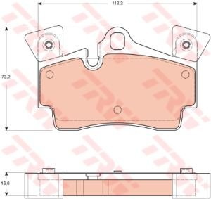 Колодки тормозные VW Touareg AUDI Q7 PORSHE Cayenne (02-) R18 задние (4шт.) TRW GDB1652, 7L5698451/955.352.93950