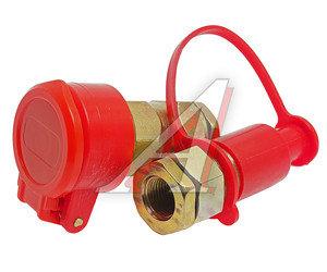 Головка соединительная тормозной системы прицепа 16мм (грузовой автомобиль) красная комплект FER-RO 100-3521010/11 (красная), АТ-372к, 100-3521010