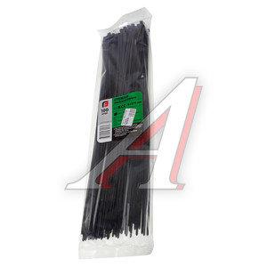 Хомут-стяжка 370х4.0 пластик черный (100шт.) FORTISFLEX 1004370-1, 49414