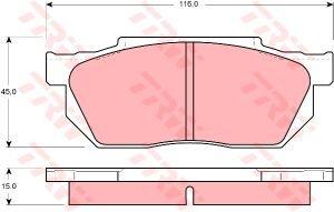 Колодки тормозные HONDA Civic (-89) передние (4шт.) TRW GDB358