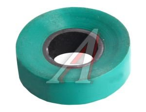 Изолента ПВХ зеленая 15ммх20м ПОЛИМЕРПЛАСТ ПВХ к*, 13668