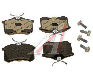 Колодки тормозные VW AUDI SEAT SKODA задние (4шт.) TEXTAR 2355402, GDB1330, 1K0698451J/3B0698451A/4B0698451E/8E0698451K/JZW698