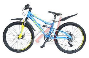 """Велосипед 24"""" 21-ск. двухподвесный дисковые тормоза (AL-рама) голубой STEFAN TOTEM T15B114-24 B, T15B114-24"""