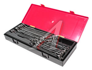 Набор ключей комбинированных 6-23мм 17 предметов в кейсе изгиб 15град. с зеркальной полировкой JTC JTC-K6171
