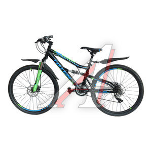 """Велосипед 26"""" 21-ск. двухподвесный дисковые тормоза (AL-рама) черный STEFAN TOTEM T15B114-26 A, T15B114-26"""