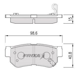 Колодки тормозные HYUNDAI Santa Fe (00-) задние (4шт.) HANKOOK FRIXA FPHXGR, 58302-17A00