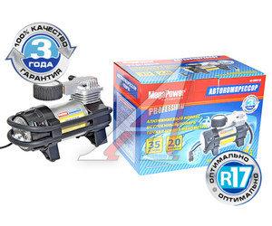 Компрессор автомобильный 35л/мин. 10атм. 14А 12V (фонарь, сумка) MEGAPOWER M-56010
