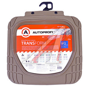 Коврик салона универсальный термопласт задний ряд бежевый (2 предмета) Transform AUTOPROFI TER-002 BE