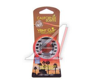 Ароматизатор на дефлектор (кокос капистрано) Vent Clip масло твердое 40г CALIFORNIA SCENTS 091400027926,