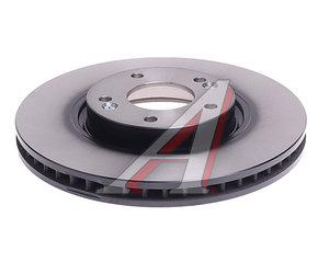 Диск тормозной HYUNDAI i30 (07-) (R16),Veloster передний вентилируемый (1шт.) (мин.2шт.) TRW DF4957S, 51712-3V000/51712-2L500