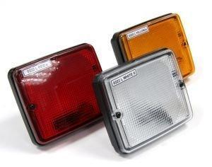 Фонарь задний (24V, прямоугольный, красный) АВТОТОРГ 0222L RED к